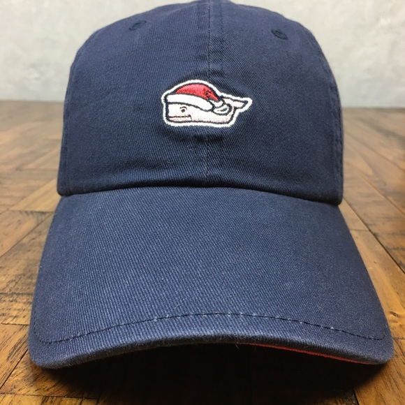 05de5c6e700 NEW Vineyard Vines Mistletoe Santa Whale Hat Cap